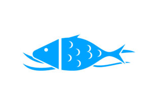 Download Free Fish Vector Logo Template Graphic By Meisuseno Creative Fabrica for Cricut Explore, Silhouette and other cutting machines.
