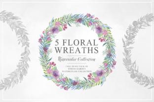 Five Floral Watercolor Wreaths Graphic By Creative Fabrica Freebies