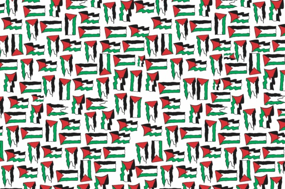 Print on Demand: Flag Palestine Graphic Illustrations By Arief Sapta Adjie