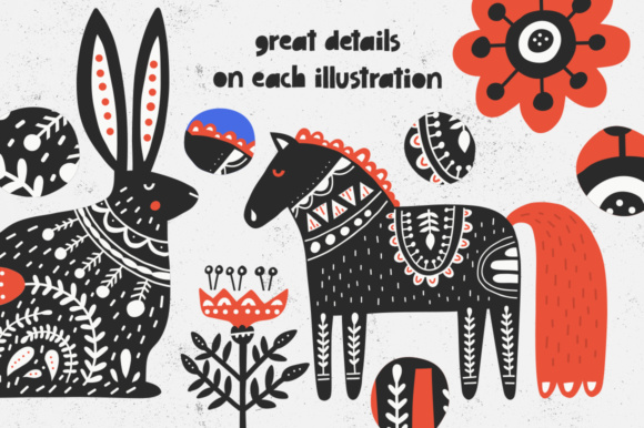 Folk Art Collection Graphic By Favete Art Image 11