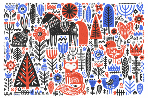Folk Art Collection Graphic By Favete Art Image 9