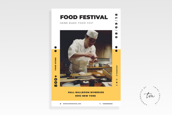 Food Flyer Graphic Print Templates By TMint