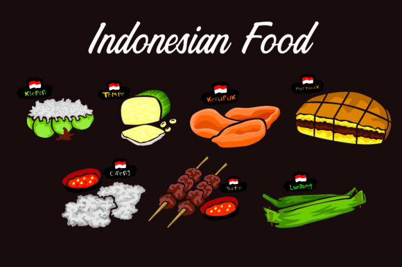 Print on Demand: Food Indonesian Bundle Graphic Illustrations By Arief Sapta Adjie