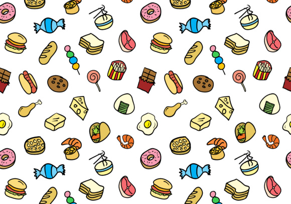Food Seamless Pattern Graphic By Sabavector Creative Fabrica