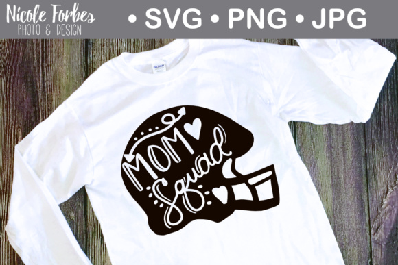 Download Free Football Mom Squad Svg Graphic By Nicole Forbes Designs for Cricut Explore, Silhouette and other cutting machines.