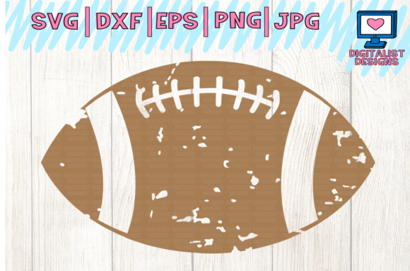 Download Free Football Grunge Silhouette Graphic By Digitalistdesigns Creative Fabrica for Cricut Explore, Silhouette and other cutting machines.