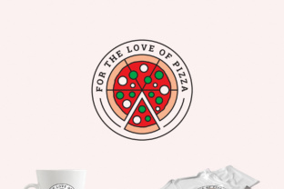 For the Love of Pizza Logo Template Graphic By Design A Lot