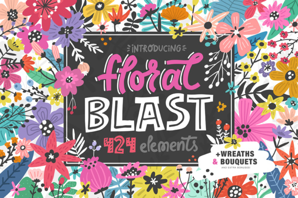 Foral Blast Illustrations Graphic By Favete Art Image 1