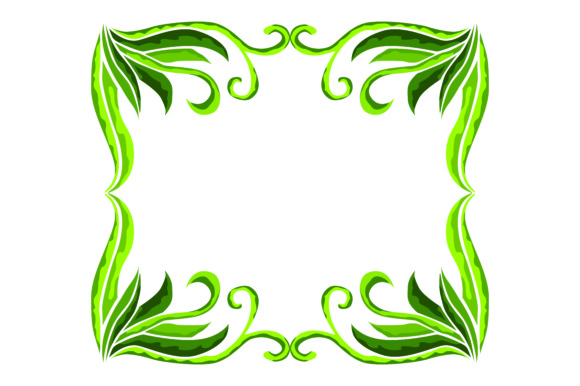 Print on Demand: Frame Ornament Floral Green Graphic Illustrations By Arief Sapta Adjie