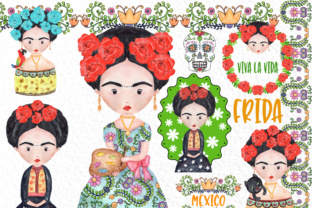 Frida Kahlo Clipart Mexican Clipart Graphic By vivastarkids