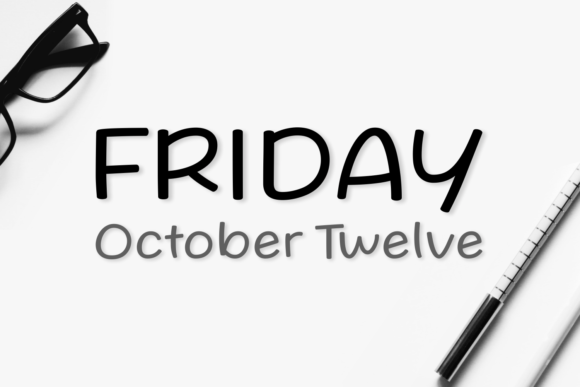Print on Demand: Friday October Twelve Script & Handwritten Font By Situjuh