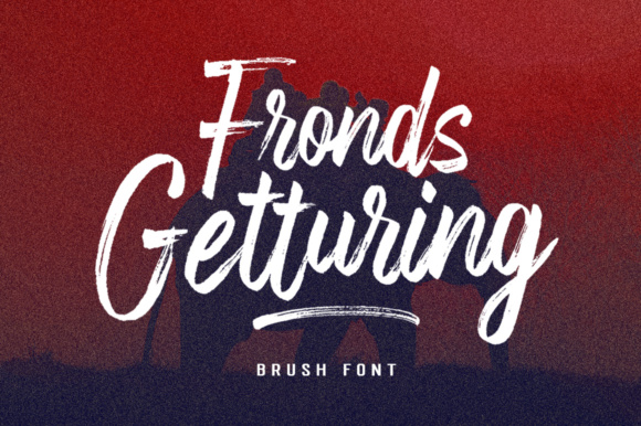 Print on Demand: Fronds Getturing Script & Handwritten Font By gatype