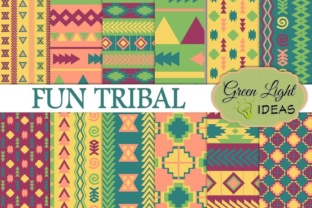 Fun Tribal Digital Papers Graphic By GreenLightIdeas