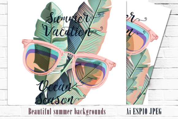 Fun and Positive Tropical Backgrounds Graphic By fleurartmariia