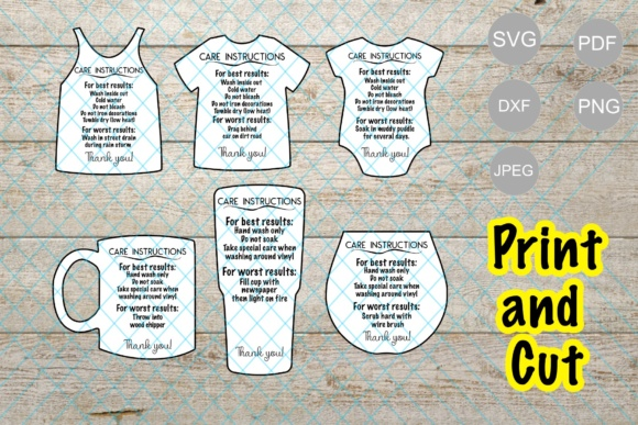 Funny Care Instructions Print And Cut Graphic By Unicorn