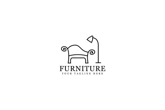 Download Free Furniture Outline Design Graphic By Sabavector Creative Fabrica for Cricut Explore, Silhouette and other cutting machines.