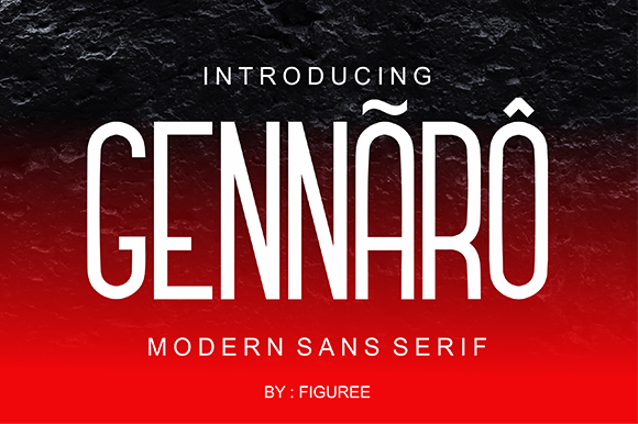 Print on Demand: Gennaro Sans Serif Font By figuree studio