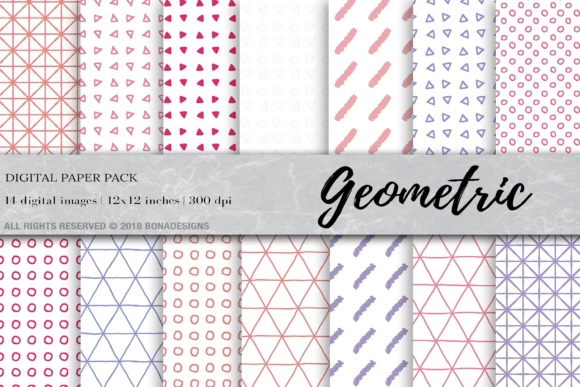 Download Free Geometric Digital Paper Geometric Background Graphic By for Cricut Explore, Silhouette and other cutting machines.