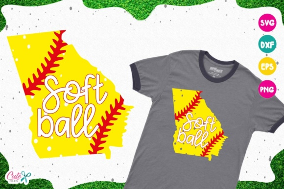 Download Free Georgia Softball Life Svg Cortar Archivos Para Craftter Graphic for Cricut Explore, Silhouette and other cutting machines.