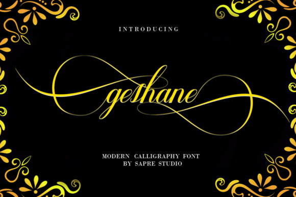 Print on Demand: Geshane Script & Handwritten Font By sapre.studio