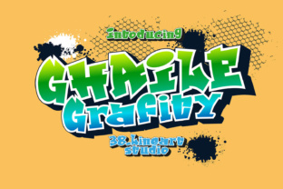 Print on Demand: Ghaile Grafiti Display Font By 38.lineart