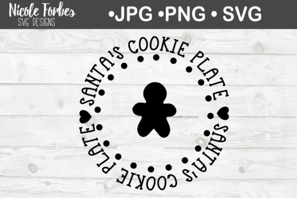Download Free Gingerbread Cookie Santa Plate Svg Cut File Graphic By Nicole for Cricut Explore, Silhouette and other cutting machines.