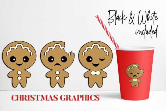 Download Free Gingerbread Man Christmas Graphic By Darrakadisha Creative Fabrica for Cricut Explore, Silhouette and other cutting machines.