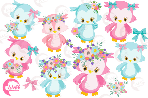 Download Free Girly Owl Clipart Grafico Por Ambillustrations Creative Fabrica for Cricut Explore, Silhouette and other cutting machines.