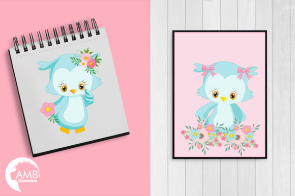 Girly Owl Clipart Graphic Illustrations By AMBillustrations - Image 5