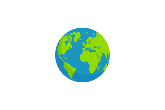 Print on Demand: Globe Earth Simple Illustration Circle Shape Graphic Illustrations By sabavector
