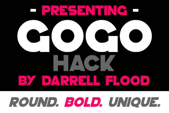 Print on Demand: GoGo Hack Display Font By Dadiomouse