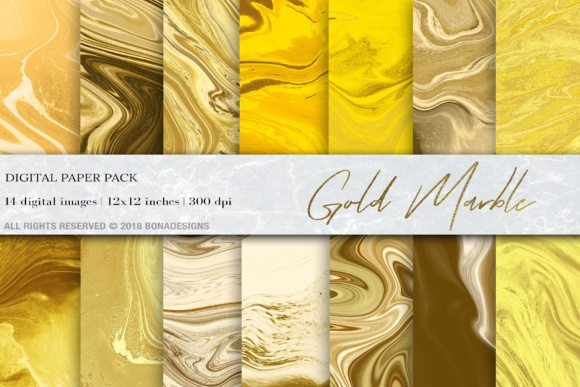 Gold Marble Digital Paper Graphic By damlaakderes