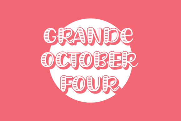 Grande October Four Display Font By Situjuh
