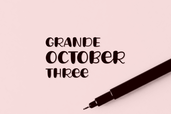 Print on Demand: Grande October Three Script & Handwritten Font By Situjuh