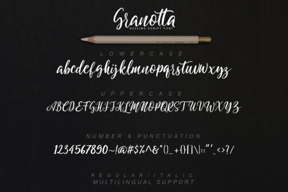 Granotta Script Font By gameboth.studio Image 12