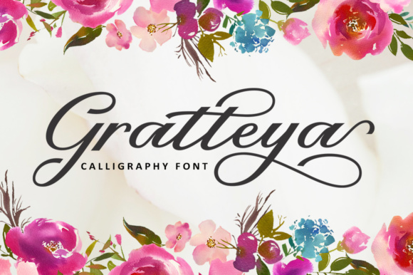 Print on Demand: Gratteya Script Script & Handwritten Font By supotype