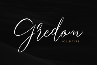 Gredom Script Font By Solidtype