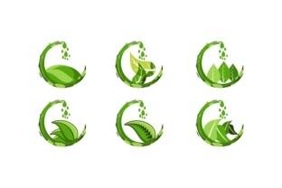 Green Juice Water And Leaf Logo Graphic By Yahyaanasatokillah