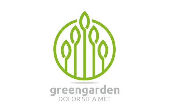 Green Leaf Garden Graphic Logos By Acongraphic