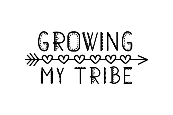 Download Free Growing My Tribe Svg Cut File By Creative Fabrica Crafts for Cricut Explore, Silhouette and other cutting machines.