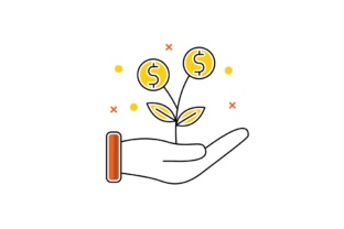 Download Free Growth Dollar Plant Graphic By Iconika Creative Fabrica for Cricut Explore, Silhouette and other cutting machines.