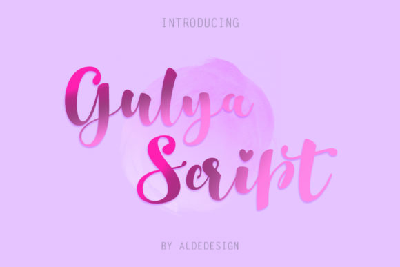 Print on Demand: Gulya Script Script & Handwritten Font By aldedesign - Image 8