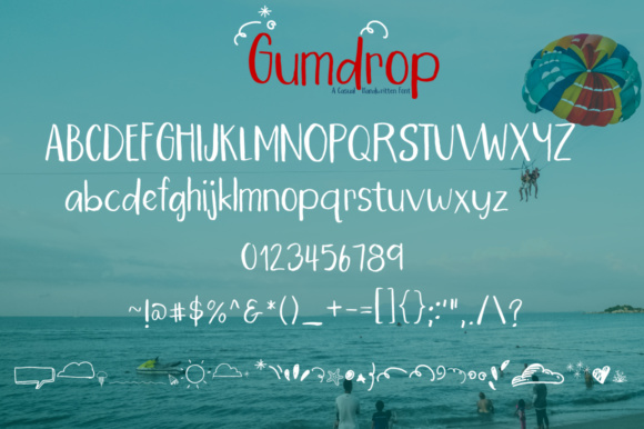 Print on Demand: Gumdrop Script & Handwritten Font By PaulaType