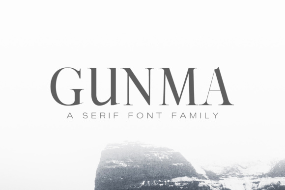 Print on Demand: Gunma Family Serif Font By Creative Tacos - Image 1