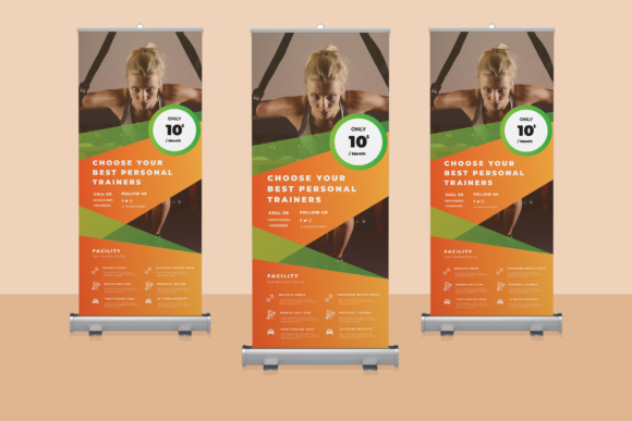 Gym Rollup Banner 03 Graphic By TMint