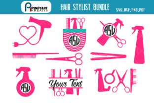 Download Free Hair Stylist Bundle Graphic By Pinoyartkreatib Creative Fabrica for Cricut Explore, Silhouette and other cutting machines.