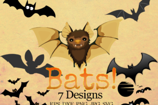 Download Free Halloween Bats Bundle Graphic By Quiet Deluxe Digital Creative for Cricut Explore, Silhouette and other cutting machines.