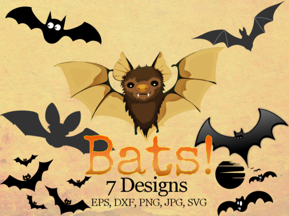 Print on Demand: Halloween Bats Bundle Graphic Illustrations By Quiet Deluxe Digital