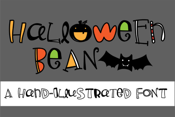 Print on Demand: Halloween Bean Display Font By Illustration Ink