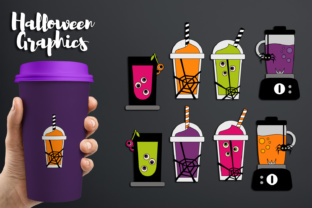 Halloween Blender and Smoothie Juice Drinks Graphic By Revidevi